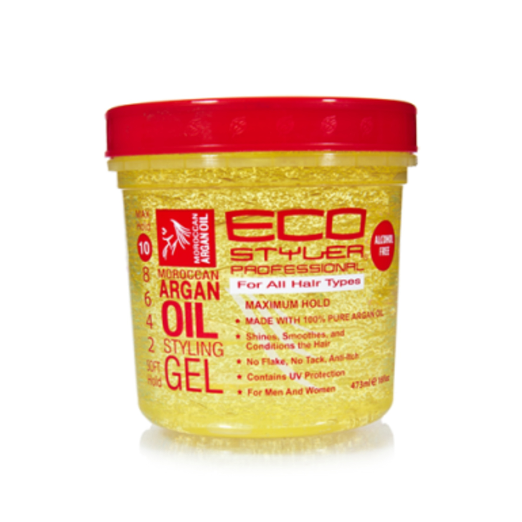 Eco Styler Gel With Argan Oil On Natural Hair